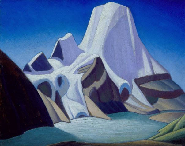 An illustration of the works of Lawren Harris, which now are in Canada's public domain.